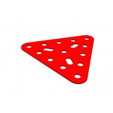 Triangular plate, large, 13 holes, 3 short slots