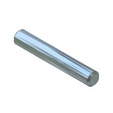 Axle rod, 25mm, steel, nickel-plated