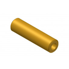 Hollow shaft, length: 30mm, brass, 4.1 and 8mm diameter