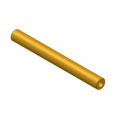 Hollow shaft, length: 75mm, brass, 4.1 and 8mm diameter