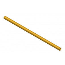 Hollow shaft, length: 200mm, brass, 4.1 and 8mm diameter