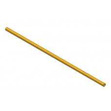 Hollow shaft, length: 300mm, brass, 4.1 and 8mm diameter