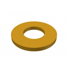 Washer, brass, 0.8mm thick, 100 pieces