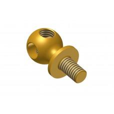 Handrail support, brass, 2 x M4 threads