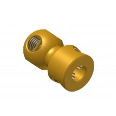 Handrail coupling, brass, 4 x M4 threads