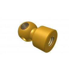 Handrail coupling threaded base, brass, 3 x M4 threads