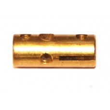 Strip coupling, brass, 6 x M4 threads