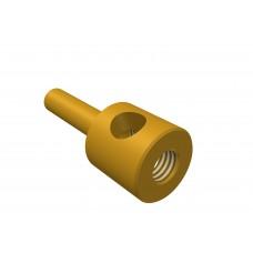 Screwed rod adapter, brass, 1 x M4 threads