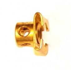 Slide piece, brass, 2 x M4 threads