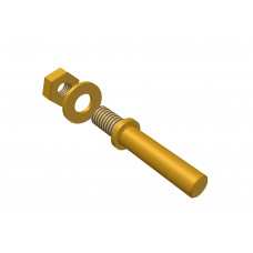 Universal handle, long, brass, M4 thread