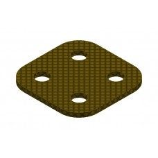 Flat plate from phenolic resin, 2 x 2 holes