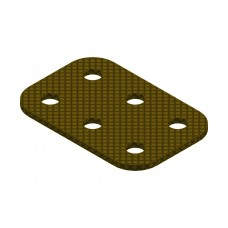 Flat plate from phenolic resin, 2 x 3 holes