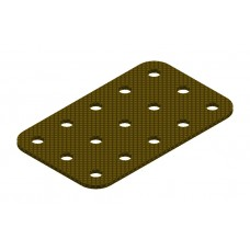 Flat plate from phenolic resin, 3 x 5 holes