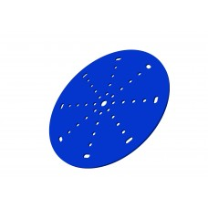 Wheel disc, 6\', blue, steel, central 8.1mm bore diameter