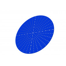 Wheel disc, 12 1/2\', blue, steel, use with 4880-16/18