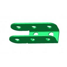 U-section hinge, 3 holes, single