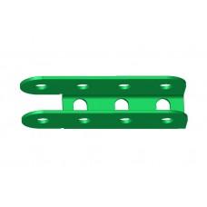 U-section hinge, 4 holes, single