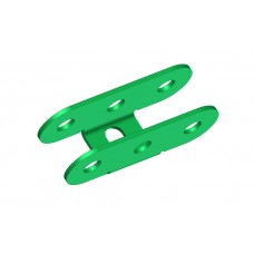 U-section hinge, 3 holes, double ended