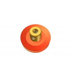 Pulley, 1\', brass boss, 2 x M4 threads, also 5/32 available