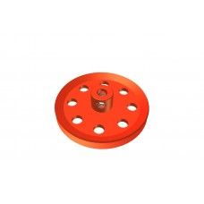 Pulley, 1 1/2\', red, 2 x M4 threads, also 5/32 available.