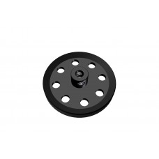 Pulley, 1 1/2\', black, 2 x M4 threads