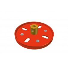 Pulley, 2\', red, 2 x M4 threads, also with 5/32 available.