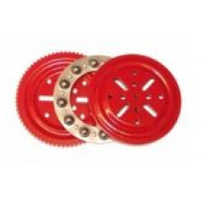 "Complete thrust bearing, 4"", Red, with 12 steel balls 10mm"