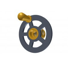 Small handwheel; 1\'; black, with brass boss