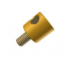 Rod socket, brass, 2 x M4 threads