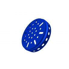 Hub disc, 3 1/4\', blue, steel
