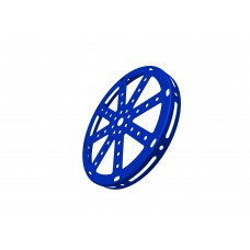 Hub disc, 5.5\', blue, steel