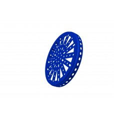 Hub disc, 6\', blue, steel