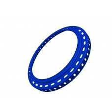 Large ring, 7 3/4\', blue, steel