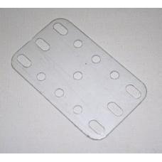 Transparent flexible plate, 3 x 5 holes