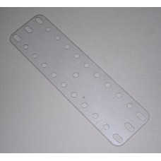 Transparent flexible plate, 3 x 11 holes