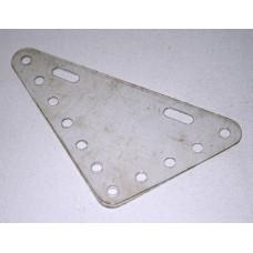 Transparent flexible plate, 5 x 7 holes, triangular