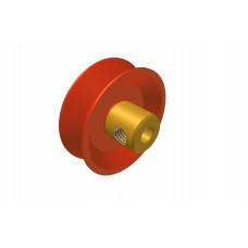 Temsi pulley, 1\', plastic, with boss, M4 threads