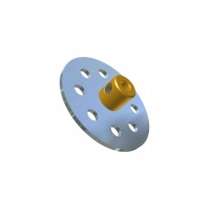 Temsi bush wheel, 1 1/2\', nickel-plated, brass boss, M4