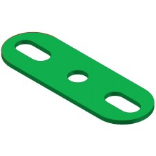 Perforated strip, slotted end, 3 holes