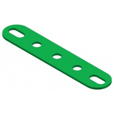 Perforated strip, slotted end, 5 holes