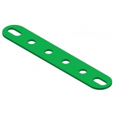 Perforated strip, slotted end, 6 holes