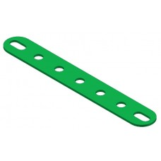 Perforated strip, slotted end, 7 holes