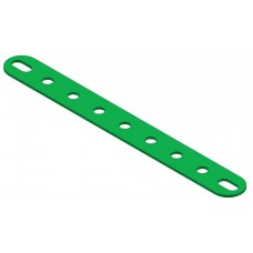 Perforated strip, slotted end, 9 holes