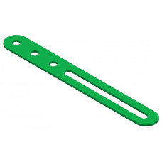 Slotted strip, 3 holes and one 46, 5mm slot