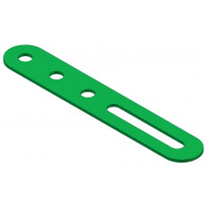 Slotted strip, 3 holes and one 20, 9mm slot