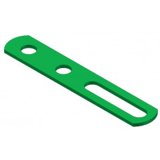 Narrow slotted strip, 2 round holes and one 1/2\' slot