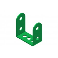 Double angle strip, width: 2 holes, double