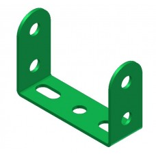 Double angle strip, width: 3 holes, double