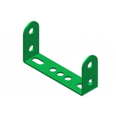 Double angle strip, width: 4 holes, double