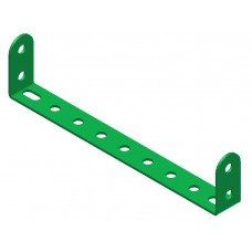 Double angle strip, width: 9 holes, double